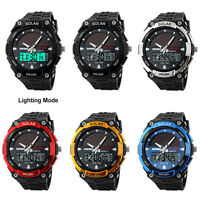SKMEI Solar Energy Waterproof Watch Analog Digital Quartz Military Wristwatch