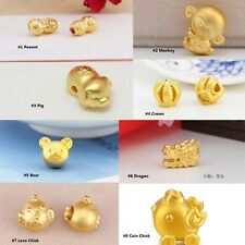 Pure 24K Yellow Gold Pendant - 3D Lovely Charms Beads- Can make Bracelet