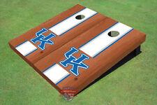 University Of Kentucky White Rosewood Matching Long Strip Custom Cornhole Board