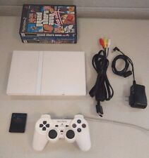 Sony Playstation 2 Ceramic White Console PS2 slim SCPH-79001