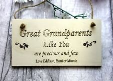 Personalised Gift Great Grandparents  Christmas Hanging Sign Home Kitchen