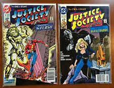 Justice Society of America #1 2 (DC Comic Lot) NM Flash Black Canary ~ bag board