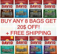 David JUMBO Sunflower Seeds 5.25oz or Pumpkin 2.25 oz BUY 8 GET $20 OFF Pick Any