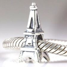 Eiffel Tower 925 Sterling Silver Charm Bead