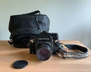 Late Model Pentax 67 with 90mm f2.8 lens, TTL Prism Finder & New Camera Bag