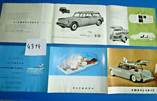N°4314 : CITROEN ID 19 ambulance / dépliant en Francais  mai 1961