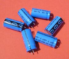6x org. Philips BC Vishay 2200uF 2200µF 35V 105C Longlife Industriequalität NOS