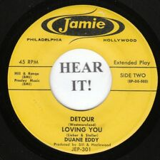 DUANE EDDY EP (Jamie 303) Detour /Loving You /Lonesome Road /I Almost Lost  VG++