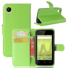 Cover Wallet Premium Green For Wiko Sunny 2 Case Pouch Protective Accessories