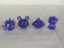 MOSHI MONSTERS SERIES 1 PURPLE SPARKLY X 4 - Liberty, Scamp, Kissy & Flumpy RARE