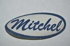 Vintage Blue MITCHEL Name Tag Unused Gas Oil Mechanic Iron On Shirt Patch Rare