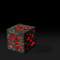 Thinkgeek - Minecraft Crafted - Pixel Light Up Redstone Ore - Night Lamp