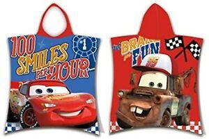 Disney Cars Lightning McQueen Mater Hooded Towel Poncho for Kids