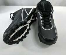 Rawlings Men Size 8.5 Black Leather Baseball Lace Up Cleats Shoes 9631MB