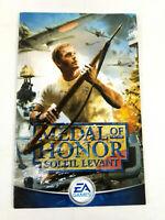 Notice Playstation 2 PS2 VF  Medal of Honor Soleil Levant  Envoi rapide et suivi