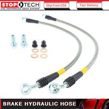 Stoptech 2pcs Brake Hydraulic Hose Front Brake Line Fits 1997-2004 Corvette UA23
