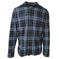 Levi's Men's Blue Plaid Jackson Worker L/S Woven Shirt (Retail $70.00)