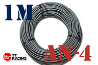 "1/4"" STAINLESS STEEL BRAIDED 1000 PSI -4AN AN4 4-AN OIL FUEL LINE HOSE 1M Meter"
