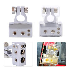 2pc 2 4 8 AWG Gauge Positive Negative Battery Terminal Clamp Connector Cover set