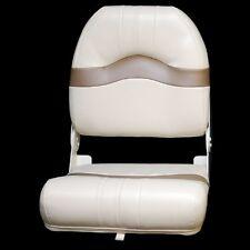 Custom Boat Fishing Seat | Folding Tan Beige Deluxe