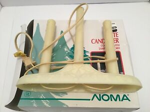 Vintage noma c7 C7  Christmas 3 light candolier candelabra holiday Santa Claus
