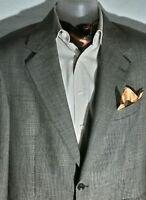 Brooks Brothers Mens BE/BRN 100% Wool Houndstooth Blazer Jacket Sportscoat S 42R