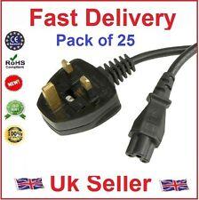 2M Laptop 3 Pin UK alimentazione Clover Leaf Cavo di alimentazione C5 Cavo, CE, RoHS (confezione da 25)