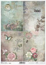 Reispapier-Motiv Strohseide-Decoupage-Serviettentechnik-Vintage-19053