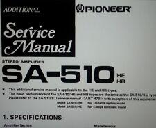 service manual amplificatore SA-510 hifi stereo pioneer carta formato a4