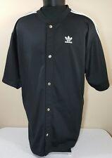 VTG Adidas Track Jacket Firebird Trefoil Logo Coat 90s XL S/S Warm Up DMC