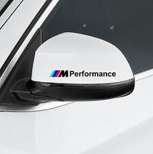 2x BMW M Performance seiten spiegel schwarz aufkleber decal E90 E70 F10 F20 F30