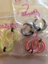 LOT OF THREE 2g Acrylic Earrings Talons stretch and wear! NEW body jewelry