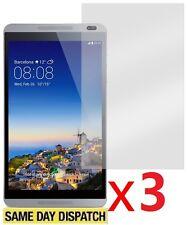 3 x Huawei MediaPad M1 8.0 Tablet chiaro LCD salvaschermo coperchio gurad & Cloth