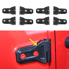 fit 2018 Jeep Wrangler JL 4dr Carbon fiber Car Door Hinge Cover Trim Accessories