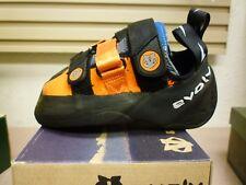 Evolv Men's Shaman Climbing Shoe, sz Us 4, orange blue black