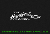Chevy The Heartbeat of America Decal Sticker CHEVROLET ( Small Sizes)