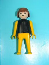 Playmobil 1974 Klicky Man Classic Style Brown Hair Yellow Sleeves Pants 9 Sets