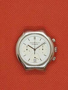 Tiffany & Co Tesoro Steel Quartz Chronograph w/premium Hublot 1270 mvmt!