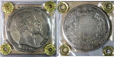 Regno di Sardegna Vittorio Emanuele II 5 Lire 1851 Torino R2. qSPL PERIZIATO #Z5