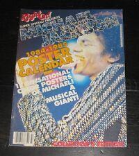 Michael Jackson 1984 RIGHT ON Calendar photos POSTER Jacksons