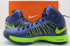 Authentic Brand New Nike Hyperdunk Mens Basketball Shoes Purple/Green Size 10