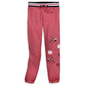 EUC Disney Minnie Mouse Womens Red Dot Heather Long Pants Size L Large