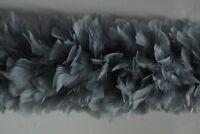 "TURKEY BOA - Silver 2 Yards 8-10"" Feathers; Costumes/Halloween/Bridal/Craft"