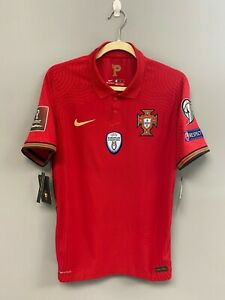 NIKE Portugal FPF Vapor Knit Match Home Red Soccer Jersey Medium Player Issue