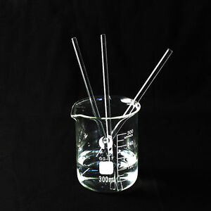 1 pcs Glass Stirring Rod for Lab Use Stir Stiring Stirrer Laboratory 150mm x 5mm
