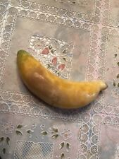 Vintage Italian Alabaster Banana Collectible Stone Fruit