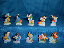 TINKERBELL DISNEY FAIRIES Set 10 Mini French Porcelain FEVES Miniature Figurines