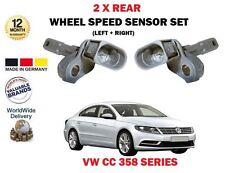 FOR VW VOLKSWAGEN CC 358 11/2011--> NEW 2 X REAR LEFT + RIGHT WHEEL SPEED SENSOR