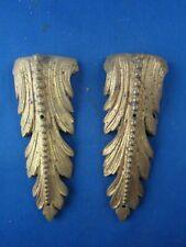 ancien bronze ameublement st LXVI XIXe 2 chutes buffet commode palmettes