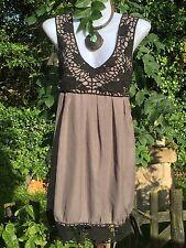 Quirky Lagenlook Dress Fluid Tulip Gypsy Arty Pixie Vintage Retro Hippie M Boho